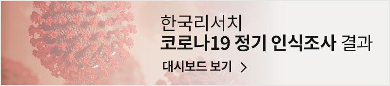 한국리서치 코로나19 정기 인식조사 결과 대시보드 보기
